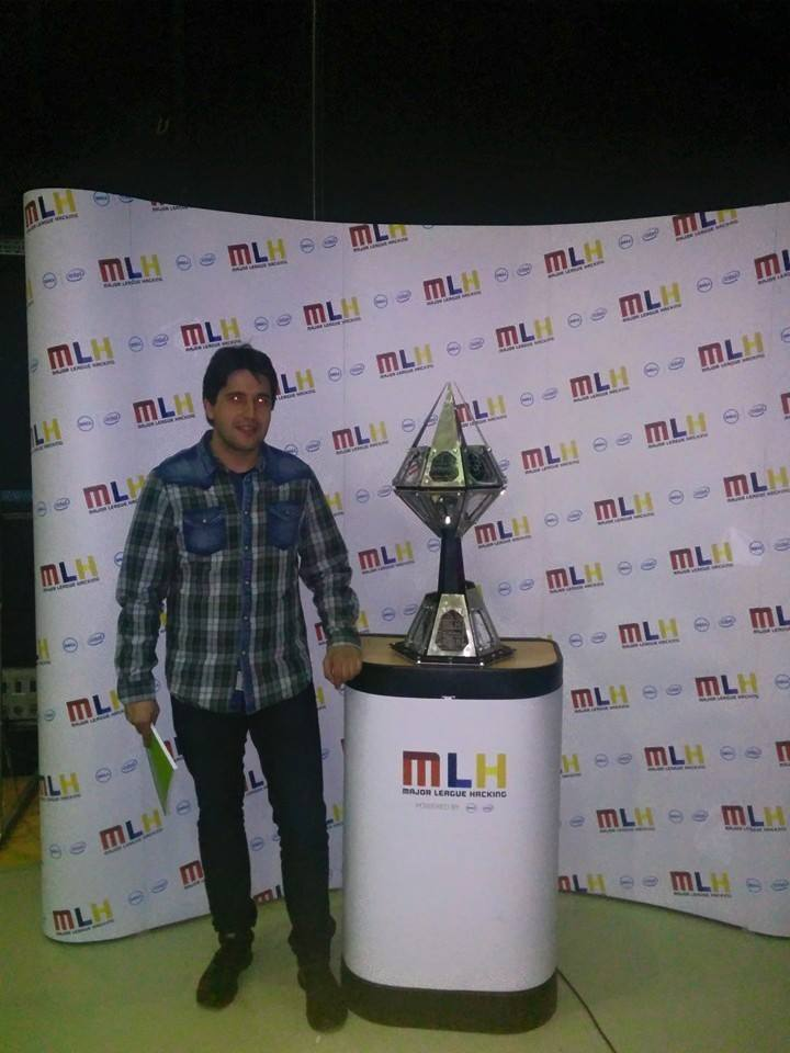 Me with MLH trophy